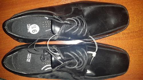 zapatos nunn bush negros talla 9 1/2 nuevos