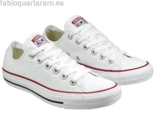 converse zapatos blancos