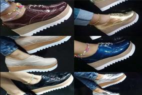 Zapatos Botin Mayor De Y Plataforma Detal Dama Al Oxford iuPXZOk