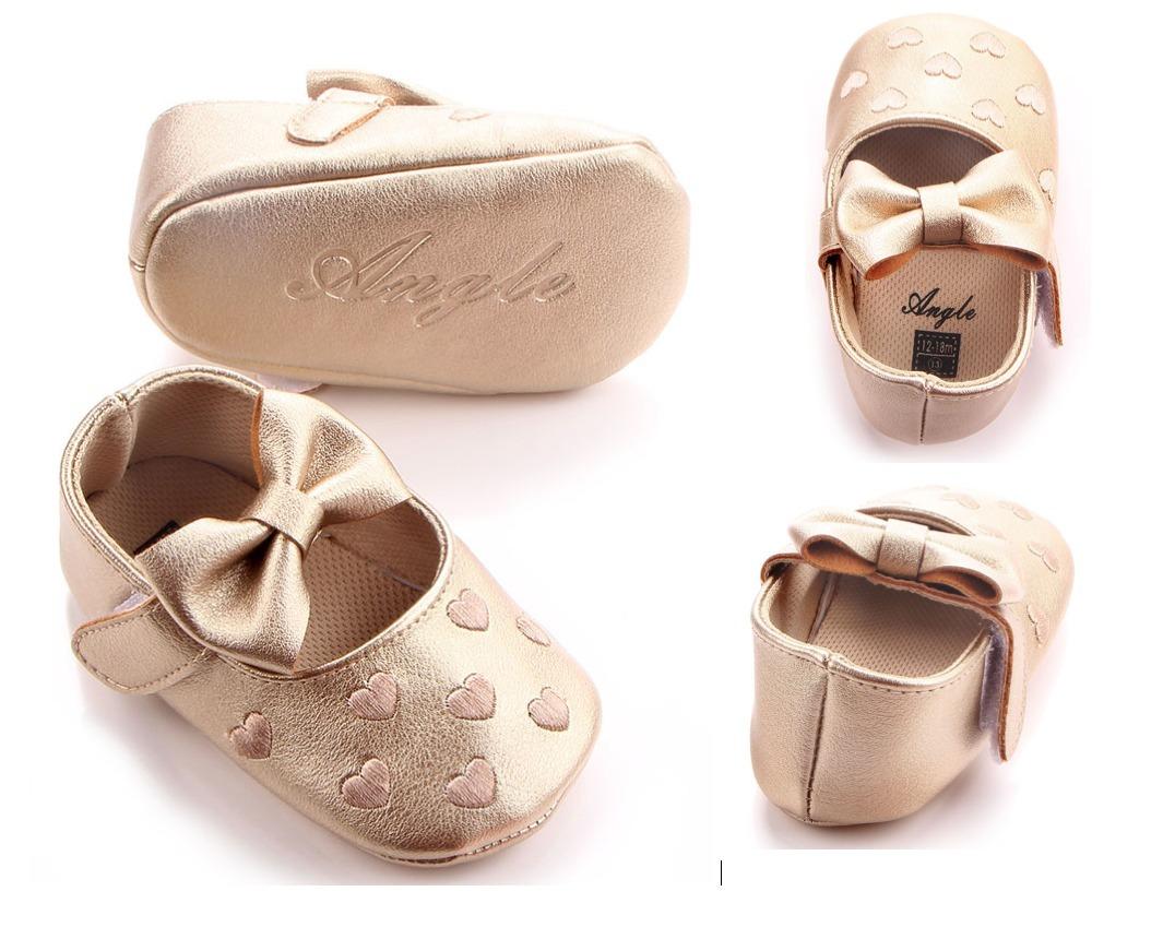 Zapatos Para Bebé Dorados - $ 205.00 en Mercado Libre