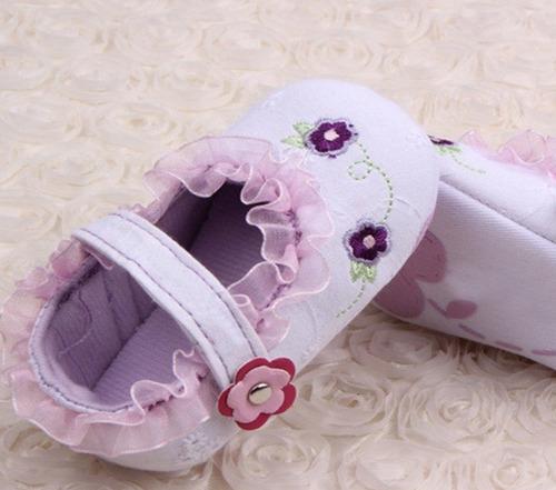 zapatos para bebé mujer blanco bautizo fiesta no caminante