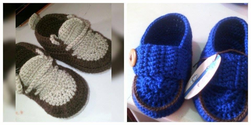 4c3b4503b zapatos de bebe tejidos a crochet