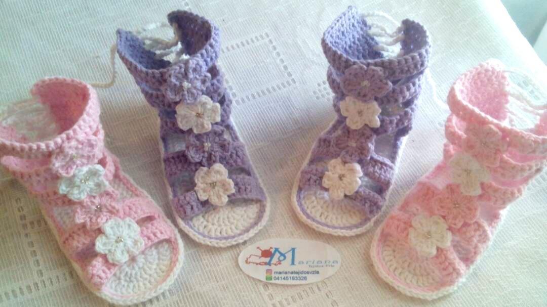 fa7a02069 Zapatos Para Bebés Tejidos A Crochet