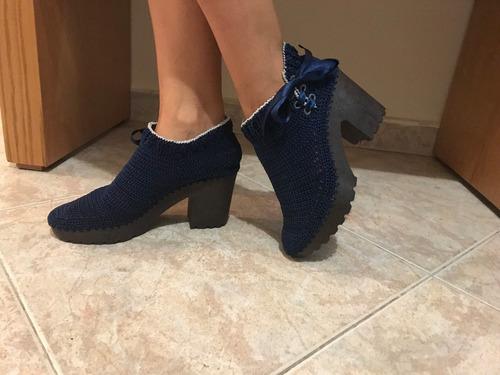 zapatos para dama en crochet