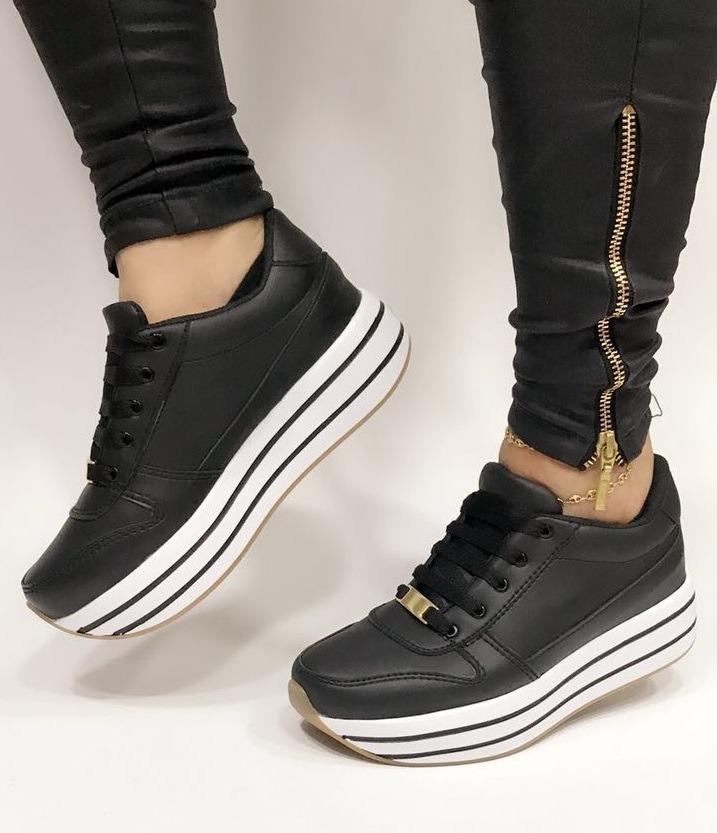 a6b9c4890d825 zapatos para dama tenis negros deportivos calzado moda mujer. Cargando zoom.