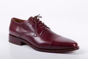 Zapatos Para Hombre Color Guinda Negro Modelo Roma