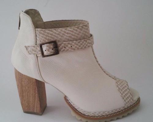 zapatos para mujer con taco 100% cuero