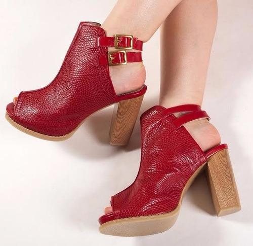 zapatos para mujer con taco alto 100% cuero exclusivo