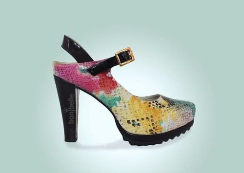 zapatos para mujer con taco alto y comodo cuero de colores