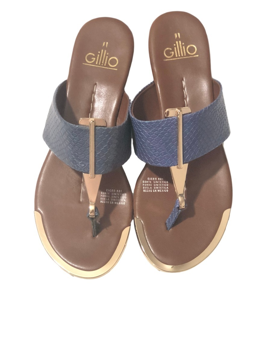 Gillio Para Azul Zapatos Mujer Sandalias QxhrsdCt