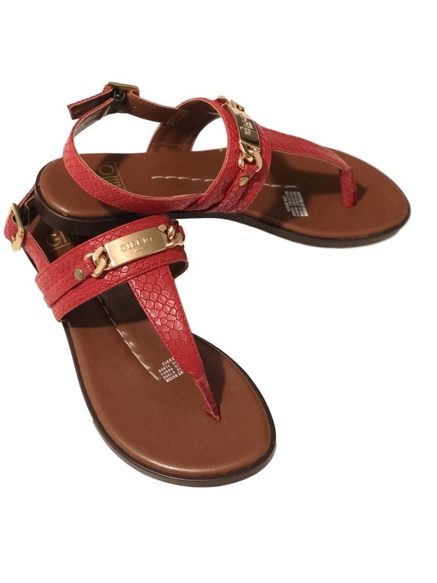 Gillio Zapatos Para Mujer Sandalias Rojos kXiZwOPuT