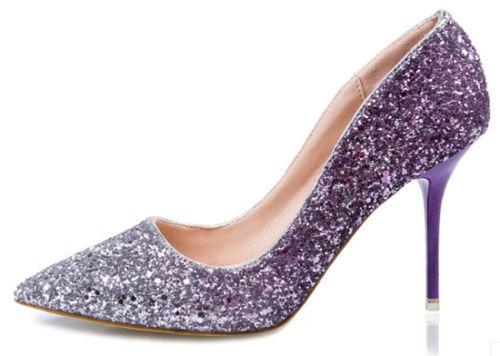 Zapatos morados para mujer cnlC4