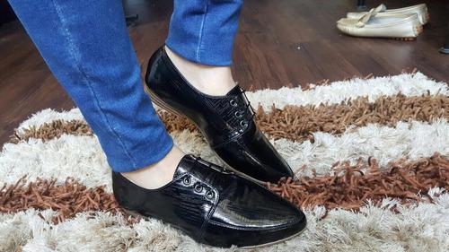 zapatos para mujer tipo bolichero negro