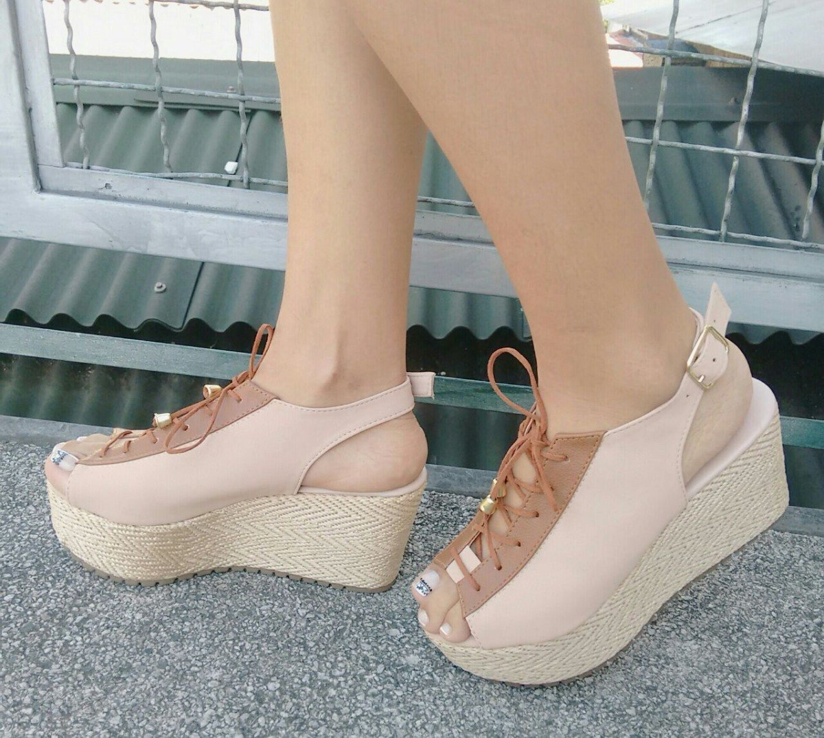 fotos oficiales 70466 7f776 Zapatos Para Mujeres Altos Plataforma Palo Rosa De Moda Dama
