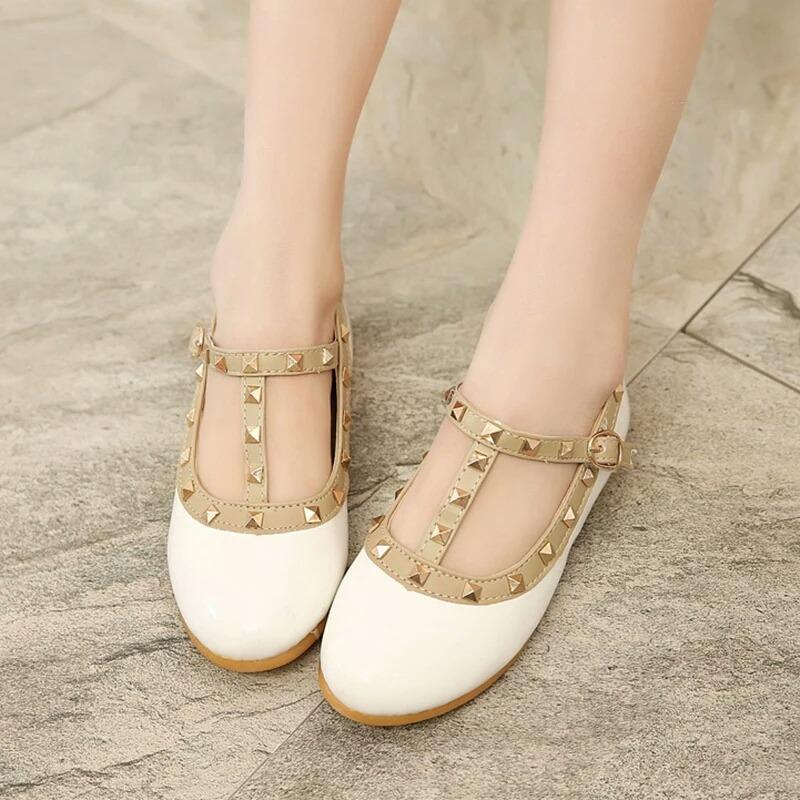 Para Blancos Valentino Zapatos Niña 19 Estoperoles Con Tipo 6a1gqEgdP