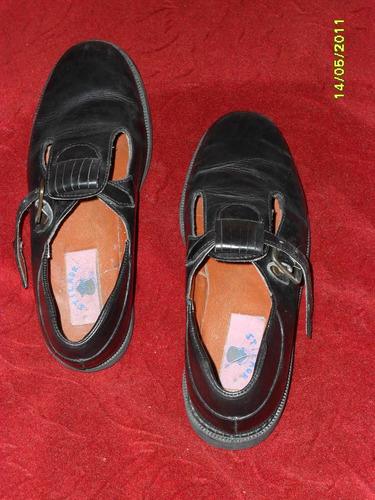 zapatos para niña en cuero