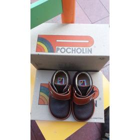 Zapatos Para Niños Colormarron Marca Pocholin Talla19 Nuevos