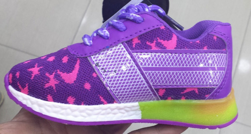 zapatos para niños y niñas de luces, encienden al pisar