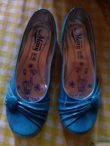 zapatos para primavera balerinas azules