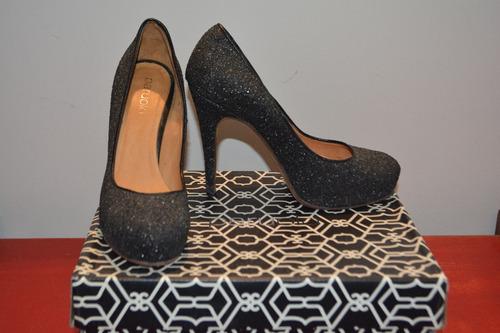 zapatos paruolo glitter negros