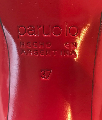 zapatos paruolo stiletto charol rojo
