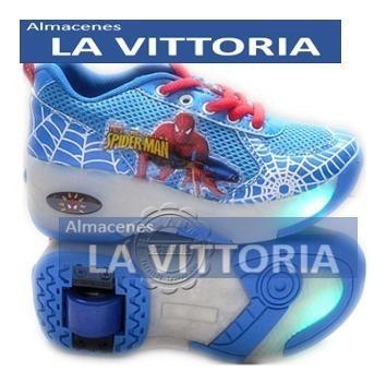 zapatos patin rueda spider-man