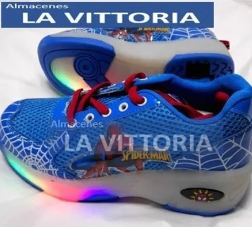 zapatos patin rueda spider-man
