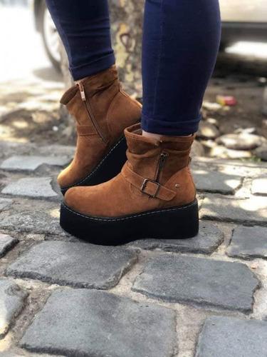 zapatos plataforma café