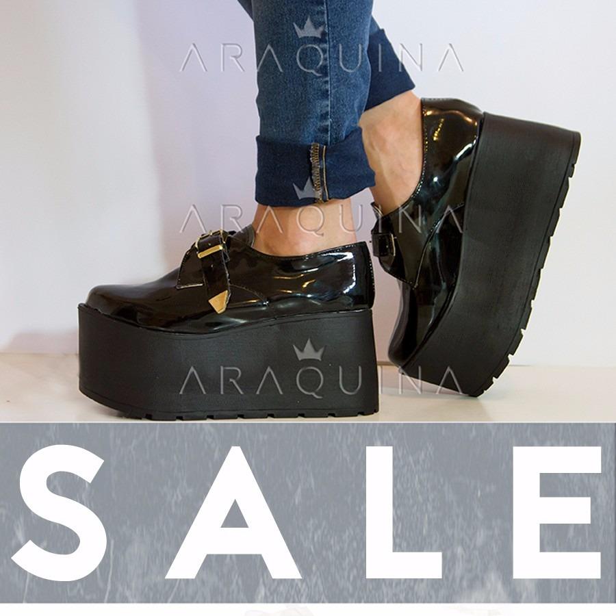 1753a82ad8 Zapatos Plataforma Mujer - Zueco Charol Moda Dama - Araquina -   749 ...
