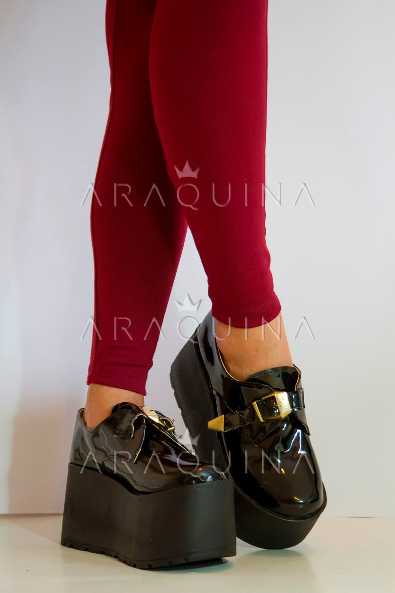 5ae655d569170 zapatos plataforma mujer - zueco charol moda dama - araquina. Cargando zoom.