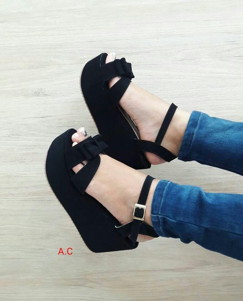 Zapatos Plataforma Negra Moda Para Estilo Mujeres Con Estilo Para Dama e3db8e