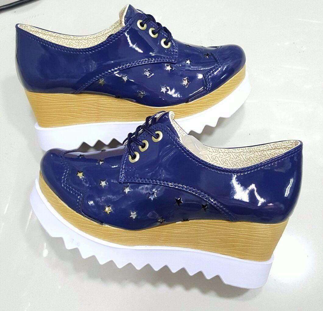 50e8c1ae6573c zapatos plataforma oxford azul moda colombia calzado mujer. Cargando zoom.