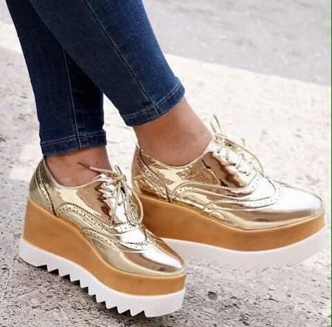 Zapatos plataforma oxford moda en mercado libre jpg 480x473 Zapatos con  plataforma 95c7e2695e07