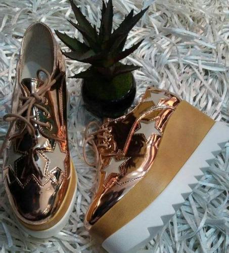 zapatos plataforma oxfords de damas