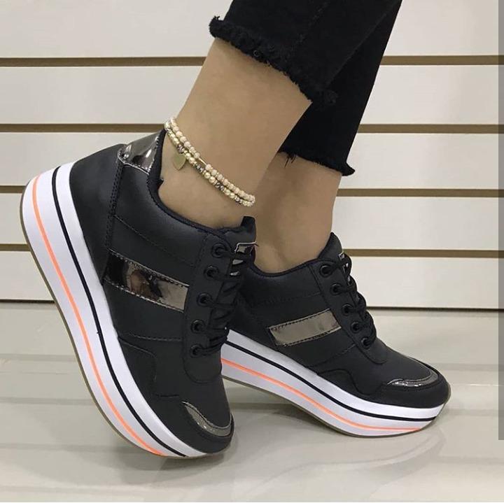 diseñador de moda 721e5 5c103 Zapatos Plataformas Para Dama Nueva Coleccion