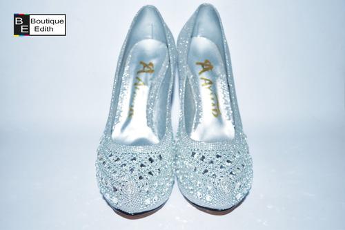 zapatos plateado de fiesta para mujer envios a todo el peru