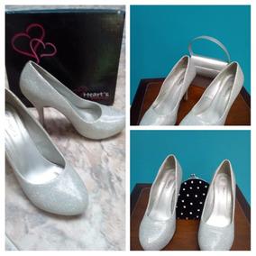 e0974414 Zapatos De Fiesta Plateados - Zapatos Mujer en Mercado Libre Venezuela