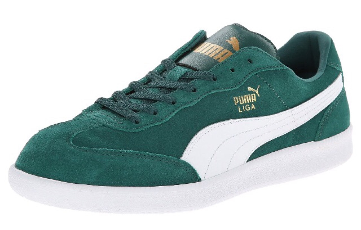 online retailer d0bb2 d27af Zapatos Puma Liga Suede Classic Gamuzados Verdes