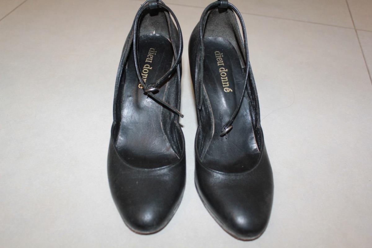 2dc61e6c50d9 Zapatos Puro Cuero Stiletto Con Pulsera Clásicos Como Nuevos -   600 ...
