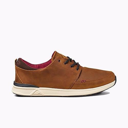 zapatos reef rover low fgl  cuero marron