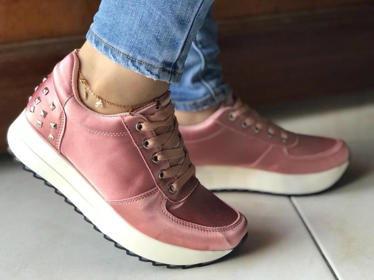 85036056 zapatos rosados de moda para mujeres tenis sport deportivo. Cargando zoom.