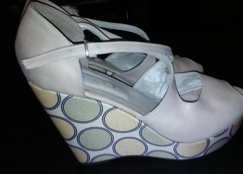zapatos rosita verdecita amarilla. numero 39. marca lazaro