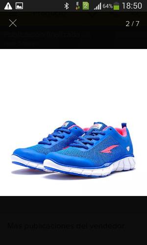 zapatos rs21 damas talla 35 azul running