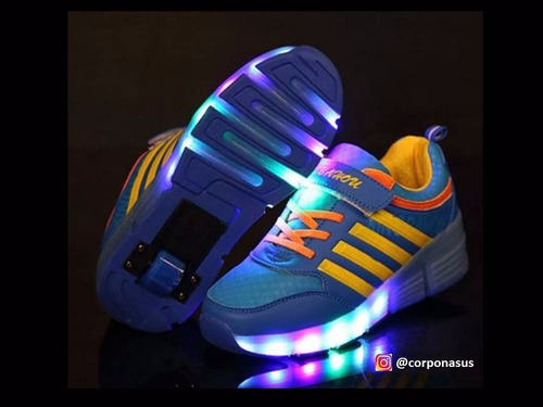 zapatos ruedas luces led roller skate led shoes