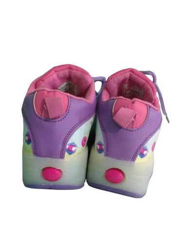 zapatos ruedas tenis patín soy luna 1 rueda de goma