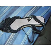 Zapatos Sandalias Mujer Cuero Negros, Hush Puppies, C Nuevos
