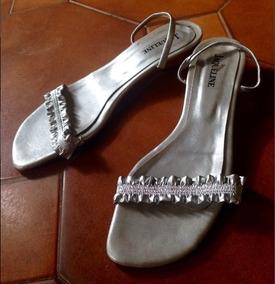 3 Zapatos Bajas Plateadas Talle Cm 39 Taco Sandalias Gris kXnP80wO