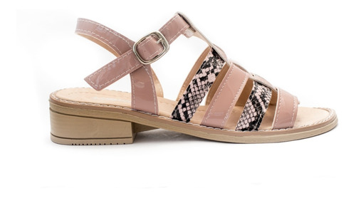 zapatos sandalias charol  dama eco cuero mh2019