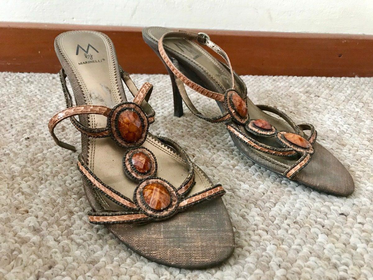 5 Nuevas Zapatos S Con Y 00 38 Mujer Pedrería Taco Sandalias 49 T68TfH