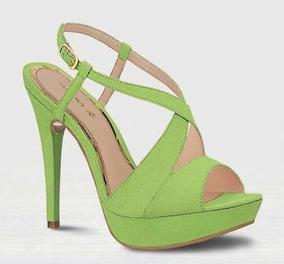 Zapatos Tacon Libre Sandalia Verde Mercado México En 3A5jL4R